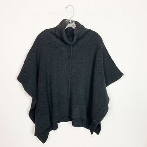 Wilfred Aritzia   cowl neck knit poncho sweater